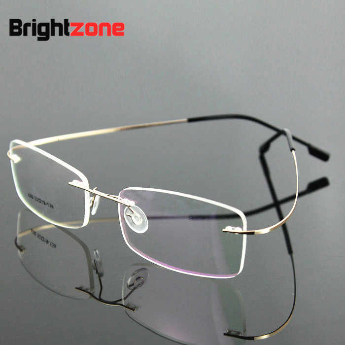 a2948f425c8 ... 9 Colors Lightest Optical glasses Memory Titanium Alloy Rimless Frame  Myopia Prescription Glasses 1.56 1.61 progressive ...