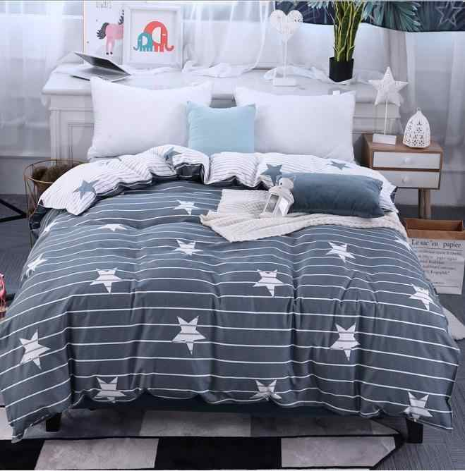 Gray white stars Twin Full Queen King Size 1pcs Duvet Cover Children adult double increase Quilt cover bedding Home Textiles
