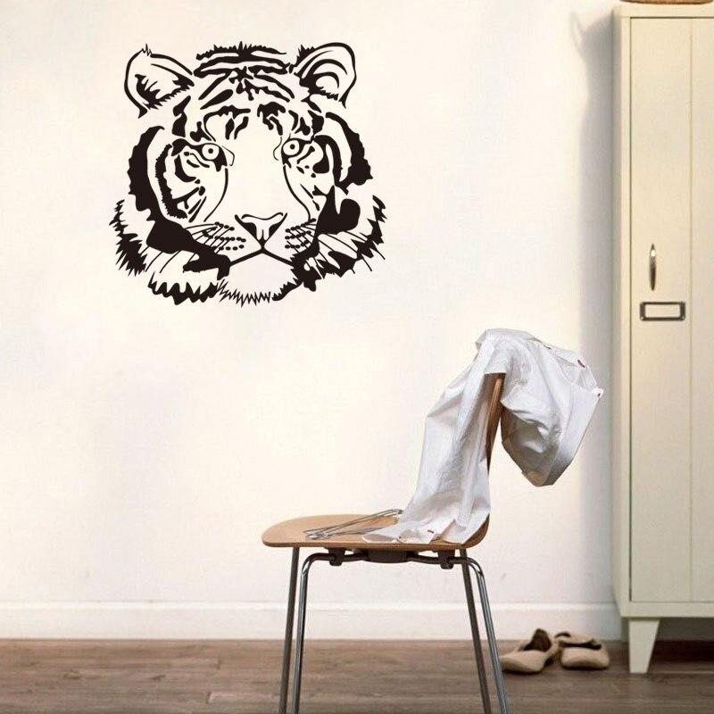 dctop muzzy tigre del vinile wall sticker cucina sticker divertente animale decalcomanie home decor bagno sticker