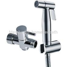 где купить Stainless steel304 Chrome Finish Handheld bidet Hot Cold water valve Mixing Bidet sprayer toilet kit по лучшей цене