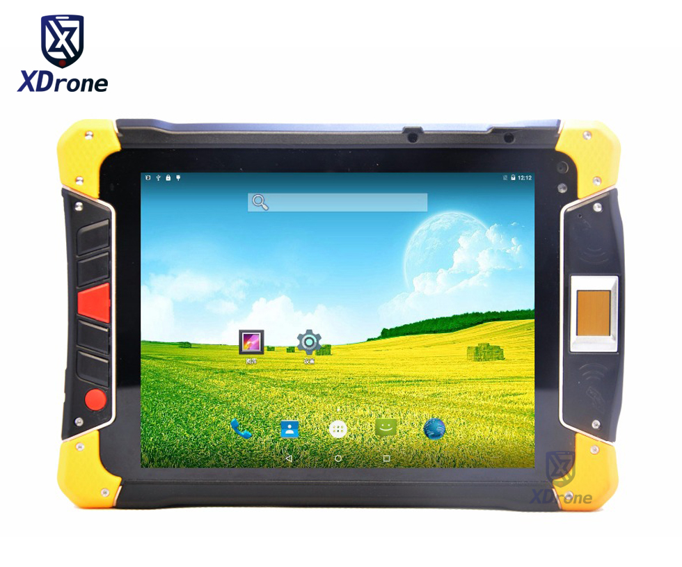 Original KT80 Waterproof Shockproof Tablet PC Phone Fingerprint Android 5.1 Octa Core 8 Inch UHF Dual Battery 2D Barcode Scanner