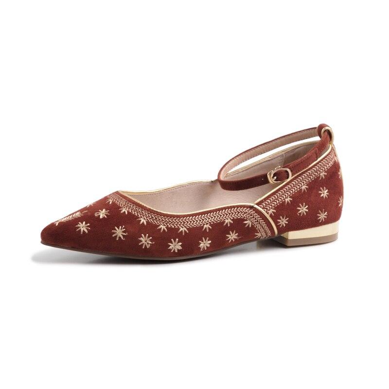 Mode Suède Chaussures Appartements Nouvelle Janes Pour Bout Dames Sexy Gray Ville Mary Blue Printemps Casual red Femmes Enfants Fun En dark Pointu Été E8Cqgn