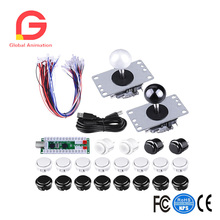 Arcade Gaming Kits,2 Players Arcade Game DIY Kits Zero Delay USB Encoder Board,Joysticks And Push Button For Mame Jamma reyann arcade diy kits part mame cabinet 20 x arcade push buttons zero delay pc encoders joysticks for sanwa obsf 30 button