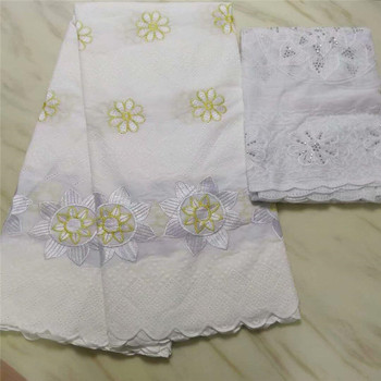 Swiss Voile Lace In Switzerland High Quality Embroidery African Dry Cotton Lace Fabrics For Nigeria Women Lace Fabrics pl65-2655