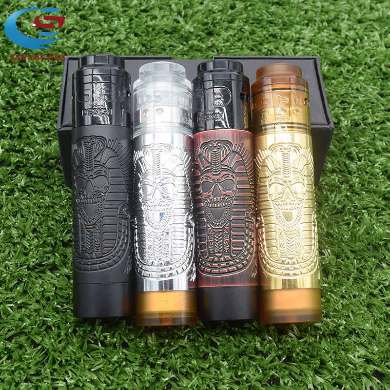 2019 new Pharaoh Mech Mod Slim Piece QP KALI RDA kit 18650 Battery  26mm diamater Mechanical Vaporizer Slam Piece Vape Pen Mod