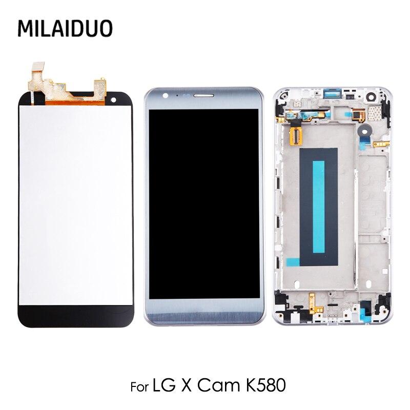 Ecran LCD pour LG K580 X CAM ecran tactile verre numériseur montage complet remplacement 5.2 ''or argent avec cadre 100% testé