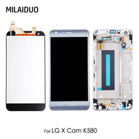 LCD Display For LG K580 X CAM Touch Screen Glass Digitizer Full Assembly Replacement 5.2'' Gold Silver With Frame 100% Tested