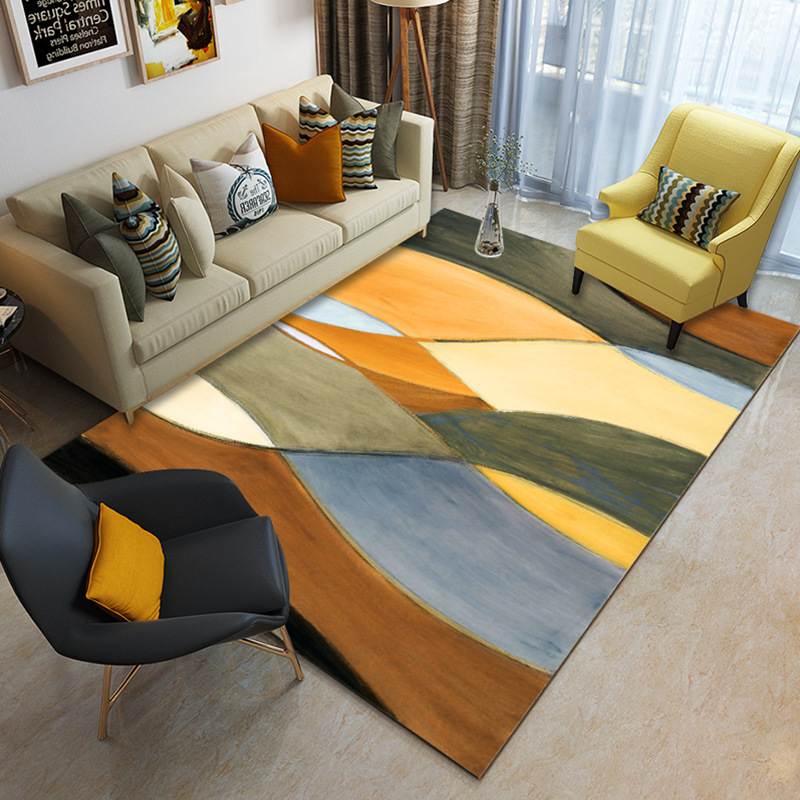 Геометрический узор ковер для гостиной спальни, скандинавский стиль 80*120 см комнатный коврик ковер нескользящий Пол коврик, Текстиль для дома