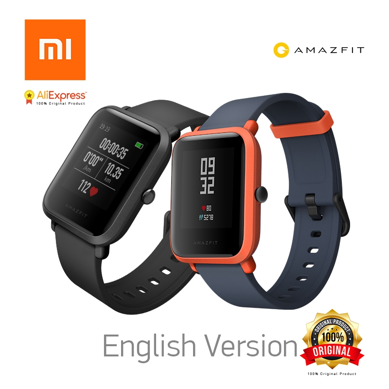 Xiaomi Huami Amazfit Bip English Version Pace Youth Smart Watch Mi Fit 1.28 Screen 32g Ultra-Light IP68 Waterproof GPS Watch [english version] xiaomi huami amazfit bip bit pace lite youth mi fit ip68 waterproof glonass smart watch gps english language