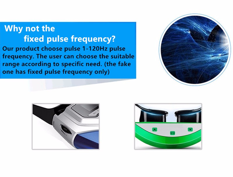 Rechargeable Myopia Cure Machine Short Eye Sight Recovery Device DC Battery Eyes Acupuncture Massaging Massager Laser Radiation  (7)