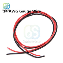 Red 2M 10//12//14//16 AWG Gauge Wire ASS Flexible Silikon-Kupferkabel für RC Black