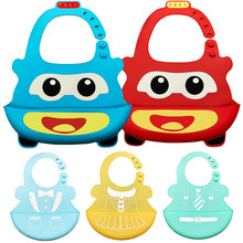 New Design Baby Bibs Waterproof Silicone Feeding Baby Saliva Towel Newborn Cartoon Waterproof Aprons Baby Bibs DS19(China)