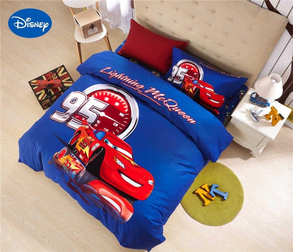 Mcqueen Cars Comforters Bedding Set Baby Boys Bedclothes Disney Sanding Cotton Warm Soft Winter Yellow Single