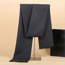 Приблизительно 180*30 см мужской теплый шарф модные однотонные модели деловых шаль утолщаются теплый глушитель шейный платок для человек
