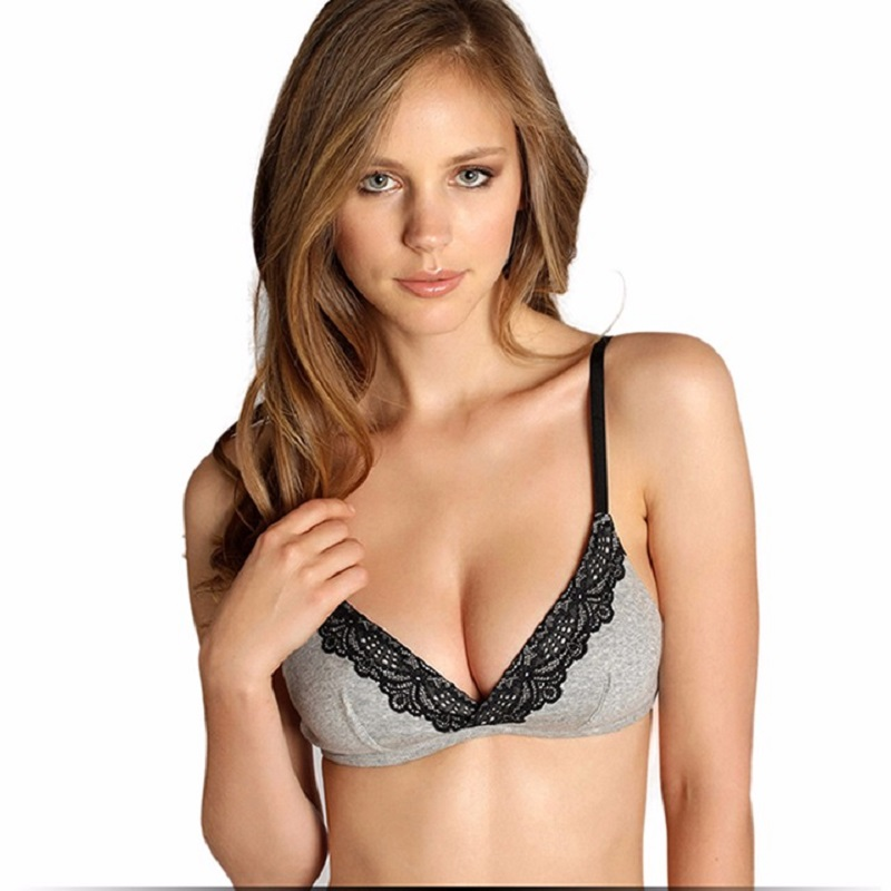 Sexy thin small chest bralette ladies underwear no steel ring bra cotton big chest small tote bags for work