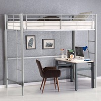 Giantx две Лофт кровать металлическая двухъярусная лестнице кровати Мальчики Девочки Подростки Дети Спальня общежития Спальня мебель HW56062