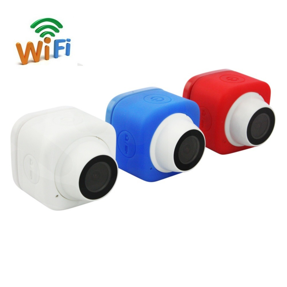 Compact Handheld Auto Selfie Pocket Super Mini Camera Wifi Action Camera 120D Wide Angle 720P 30FPS App Remote Control Wi Fi Cam