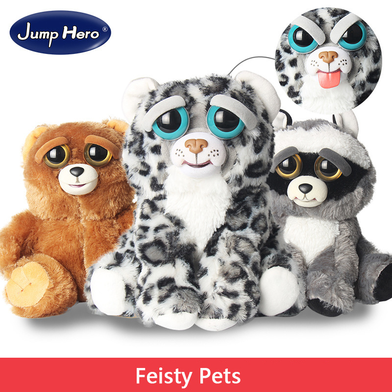 Feisty Pets Plush Toys With Funny Expression Stuffed Animal Toys for Girls Change Face Cute Soft Cotton Christmas Gift Hot Sale 25cm plush kangaroo toys with soft pp cotton creative stuffed animal dolls cute kangaroos with small baby toys gift for children
