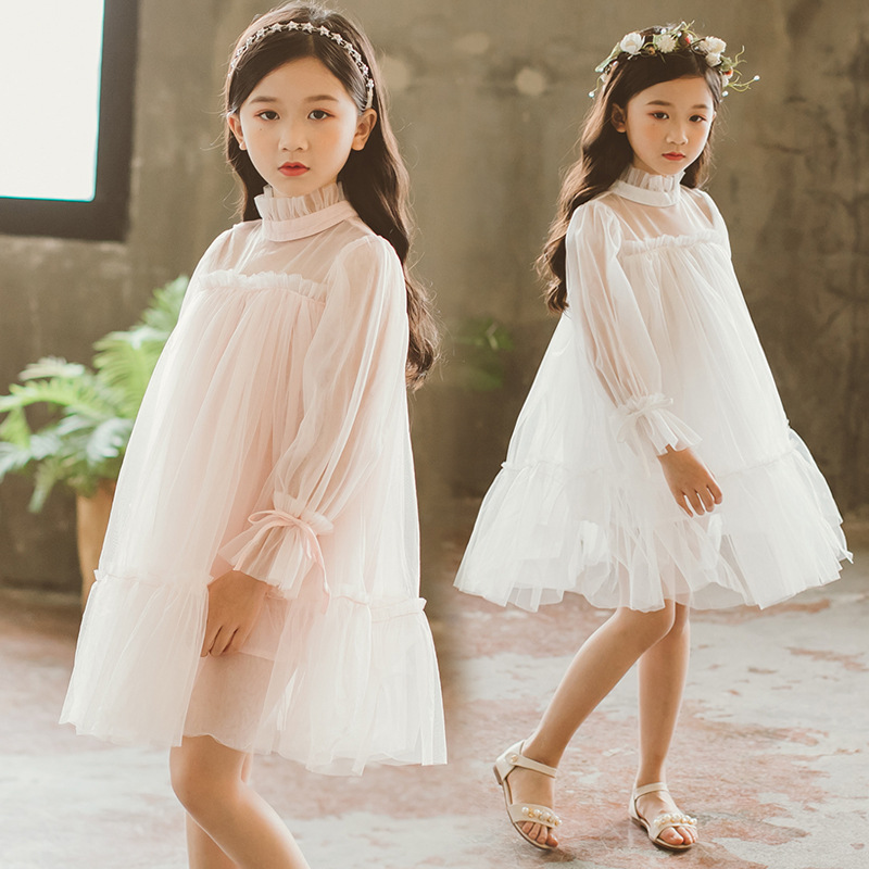 2018 New High Quality Spring Summer Girls Party Dress Long Sleeve Girls Princess Dresses Kids Clothes Girl Casual Dress CC809 big girls dress spring floral printed girls party princess dress long sleeve kids clothes for girls 6 8 10 12 year girl dress