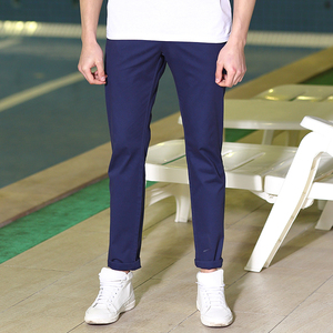 Image 3 - Мужские повседневные брюки Pioneer Camp, однотонные Стрейчевые классические брюки зауженного покроя, темно синего цвета и цвета хаки, одежда для мужчин размера плюс