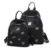 Мода черный женщины рюкзаки mochila feminina девушки школьная сумка случайные женщины пакет путешествия рюкзак мило рюкзак два размер