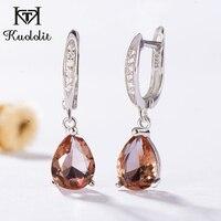 Kuololit Zultanite Gemstone Clip Earrings for Women Solid 925 Sterling Silver Created Color Change Earrings Wedding Fine Jewelry