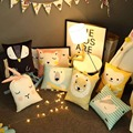 Симпатичные Catoon Кролик Медведь Лев Овцы Животных Детские Подушки Детская Комната Украшения Ребенок Подушка Хлопок Куклы Плюшевые Игрушки Подарок на день рождения
