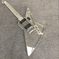 All new acrylic crystal electric guitar, special shaped electric guitar, blue lights, factory wholesale and retail, real photos