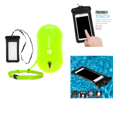 Water Sports PVC Safety Open Swim Buoy Tow Float Inflated Buoyance& Dry Phone Case Swimming Diving Paddle BoardingAccessories недорого