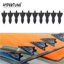 10pcs/set EVO-Style Rear Roof Shark Fins Spoiler Wing Trunk Kit carbon fiber design-looking color Vortex Generator Flexible