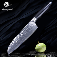 Kitchen Knife 7 Inch Santoku Damascus Steel Utility Knife VG10 67 Layers Japanese Steel