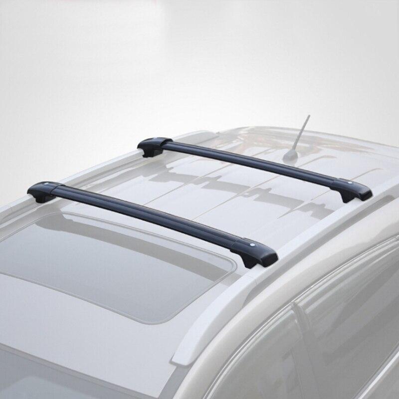 Tetto auto Rack Cross Bar Universale 93 ~ 111 cm con Anti-furto di Blocco Auto Mancorrenti Sul Tetto Rastrelliere bar carico Cargo Portapacchi