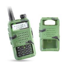 Baofeng uv 5r walkie talkie rádio camou dupla banda portátil transceptor de presunto uv5r handheld toky woky uso para a montanha e oceano