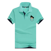 2018Brand Dragon Ball Shirt Men Design Cotton Polos Mens Short Sleeve Polo Shirts Sportsjerseysgolftennis Plus Size XXXL Blusas(China)