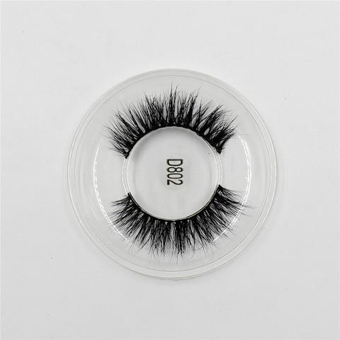 Mink Lashes 3D Lashes New Women Lady Natural Soft Black Fake Eye Lashes Handmade Thick Fake False Eyelashes Makeup Tools D802 Multan