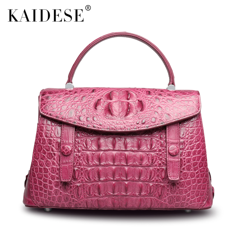 kaidese The new crocodile handbag leather shoulder bag handbag female crocodile bag delin foreign female bag bag handbag shoulder aslant crocodile grain lady handbags package a undertakes the new trend