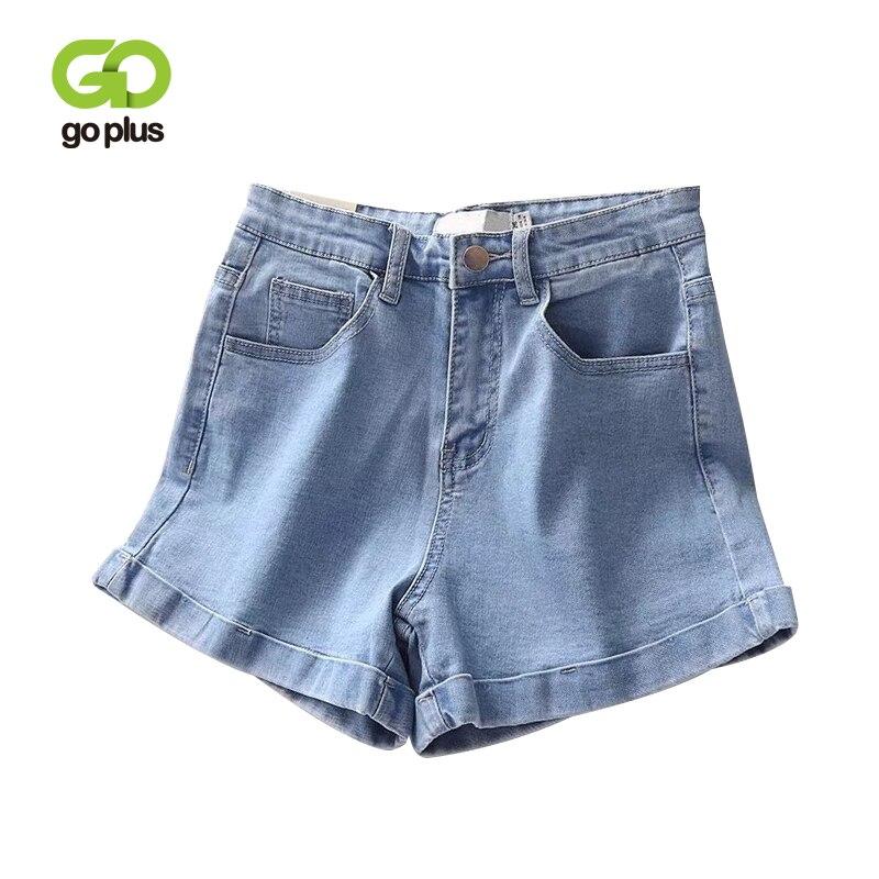 Goplus Summer Denim Shorts Women Vintage Casual Blue Black High Waist Zipper Fly Jeans Shorts Womens Pantalones Cortos Mujer