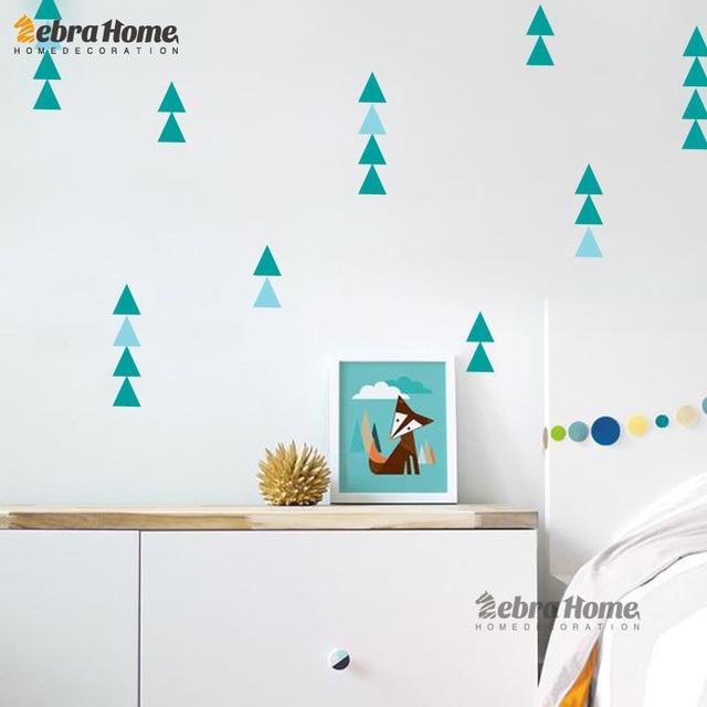 Children Sticker Nordic Ins Geometry Triangles Sticker Pattern Modern Nursery  Wall Art Decor DIY Art Home