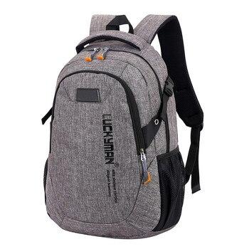 Mochila de lona de alta calidad para hombres y mujeres, Mochila para ordenador portátil, Mochila para estudiantes, mochilas de viaje para adolescentes