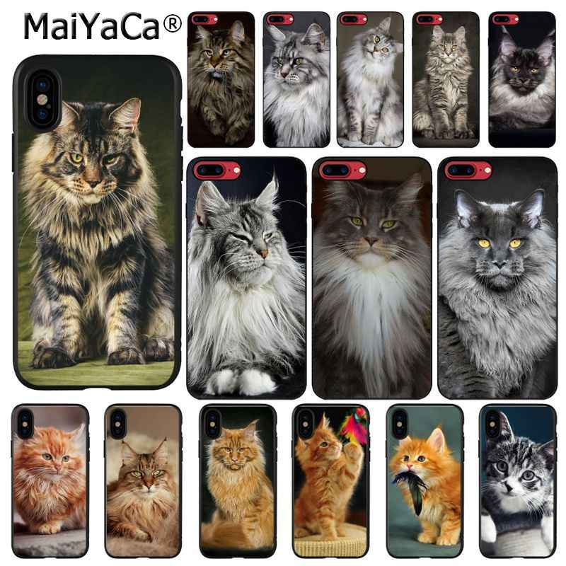 Maine coon MaiYaCa pet gato Caixa Do Telefone Para iphone 11 Pro 11Pro MAX 8 7 6 6S Plus X XS MAX 5 5S SE XR 10 Casos