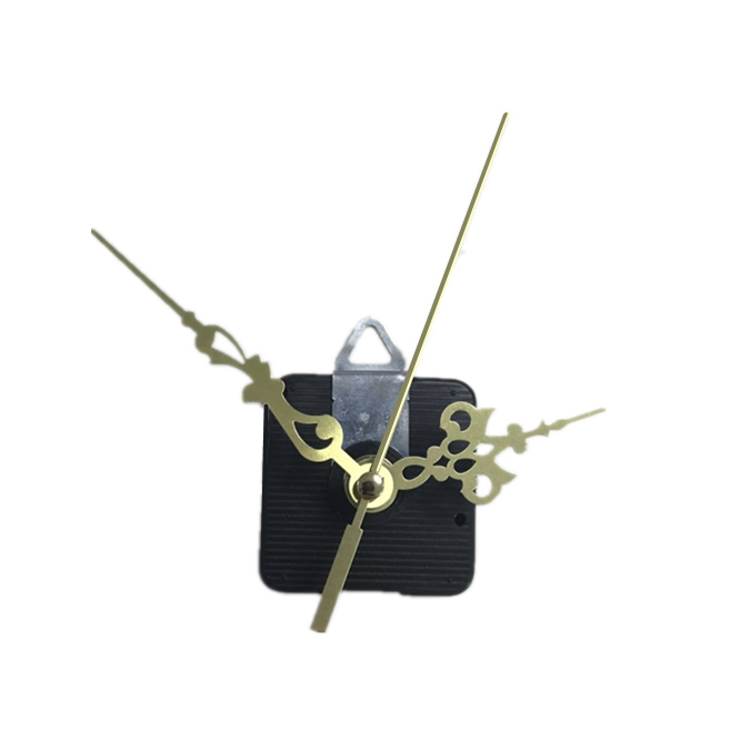 10sets 28mm Silent wall clock movement mechanism with hook gold hands black pointers Replacement Essential Accessories