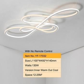 Double Glow modern led Chandelier for living room bedroom lamparas de techo dimming ceiling chandeliers lamp fixtures 10