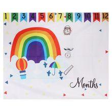 цена на Photo Background Photography Rainbow Hot Air Balloon Floral Colorful Backdrop Blanket Cloth Newborn Birthday Decoration