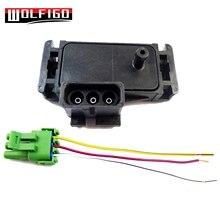 WOLFIGO NOVO 1 Bar MAPA Sensor Com Pigtail Conector Plug Fio 16040749, 12223861 Para Buick Pontiac Isuzu Jeep Chevy Cadillac