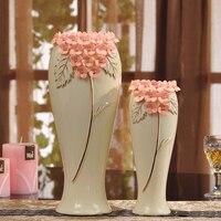 Yellow ceramic creative contracted flower vase pot home decor craft room decoration handicraft garden porcelain figurine