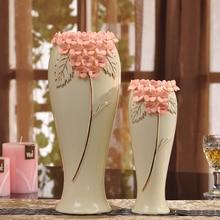 Yellow ceramic creative contracted flower vase pot home decor craft room decoration handicraft garden porcelain figurine недорго, оригинальная цена
