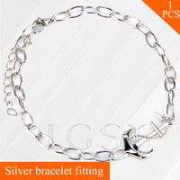 Women Jewelry 925 Sterling Silver Bracelet Fitting Anchor Lobster Clasps Charm Bracelet Accessory For Stick Pearl