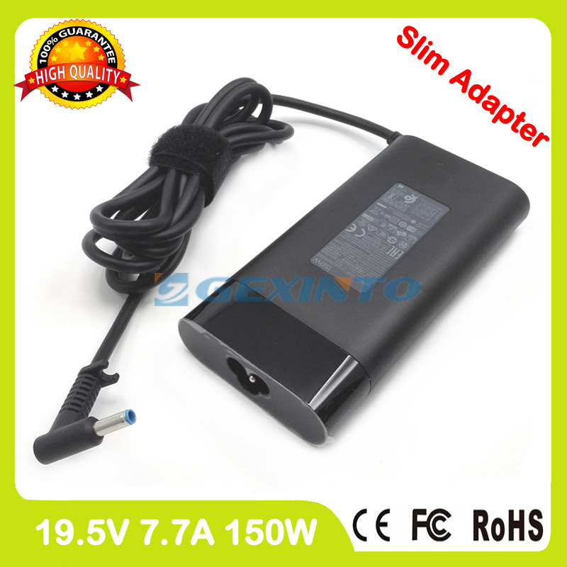 Slim ac adapter 19.5V 7.7A laptop charger for HP Spectre 15 ch000 x360 Convertible PC ZBook 15 G3 G4 G5 Mobile Workstation