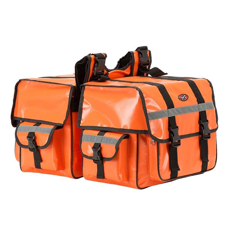 2017 мотоциклетные пробки, размер 70L, мотоциклетная седельная сумка, Водонепроницаемые Светоотражающие седельные сумки, сумка для багажа, зад