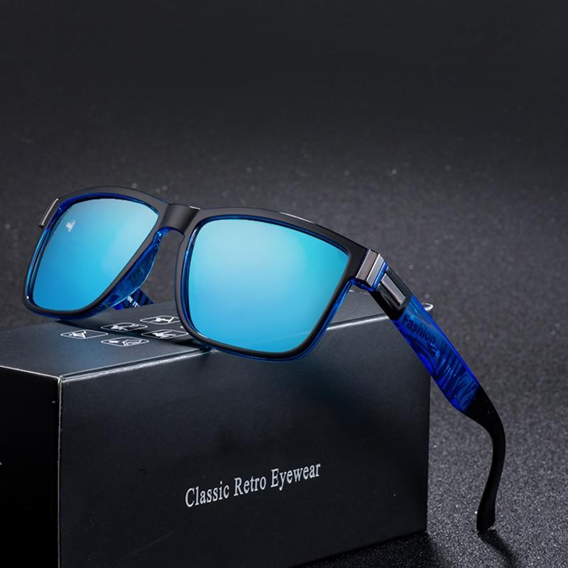 64d0b5a9df Marca Diseño polarizadas gafas De Sol hombres conductor tonos hombre  Vintage gafas De Sol para hombres Spuare espejo verano UV400, gafas De Sol